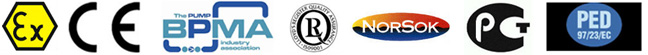 Ram Pumps Accreditation's and Certificates logos